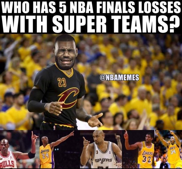 LeBron James losing