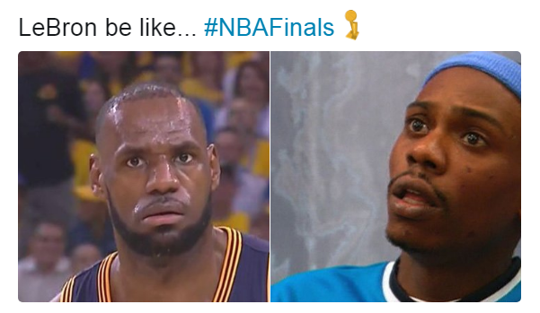 LeBron be Like in the NBA Finals