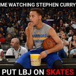 Putting LeBron on Skates
