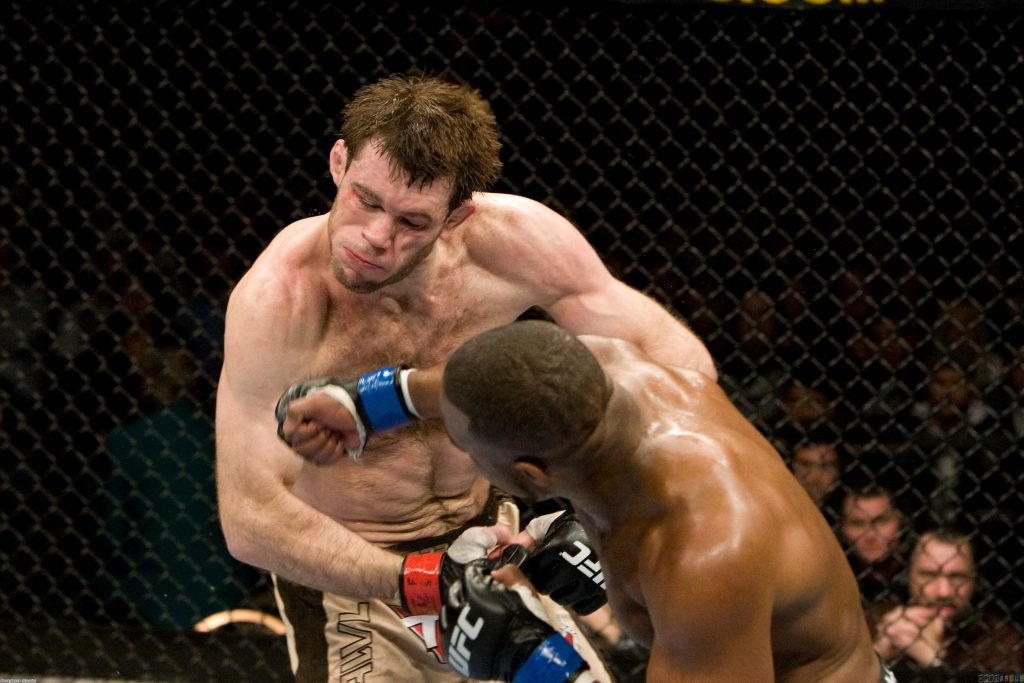 Rashad Evans punching Forrest Griffin