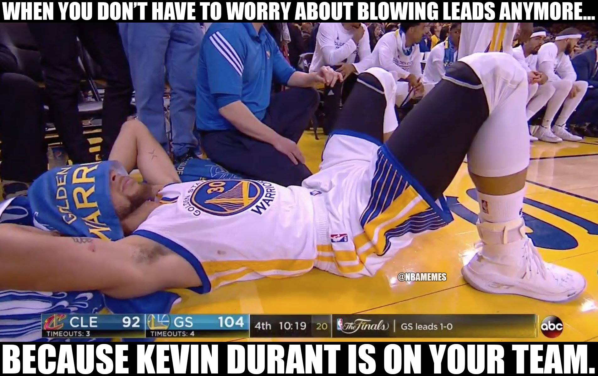Stephen Curry Relaxed