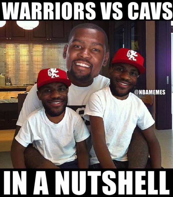 Warriors owning the Cavs