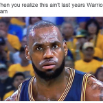 When LeBron realizes he's losing