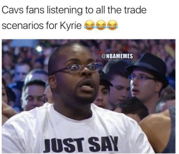 Cavs fans hearing Kyrie Trade Rumors