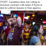 Cavs fans leaving too
