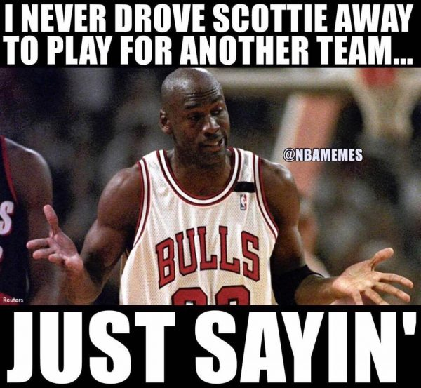 Jordan never drove Scottie Away