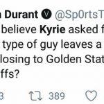 Kevin Durant fake tweet