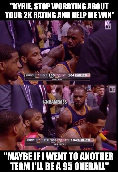Kyrie & LeBron arguing