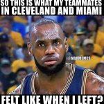LeBron James realizing Fans feelings