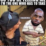 LeBron James realizing it's all on him