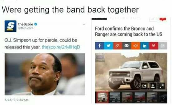 O.J. Getting the band back together