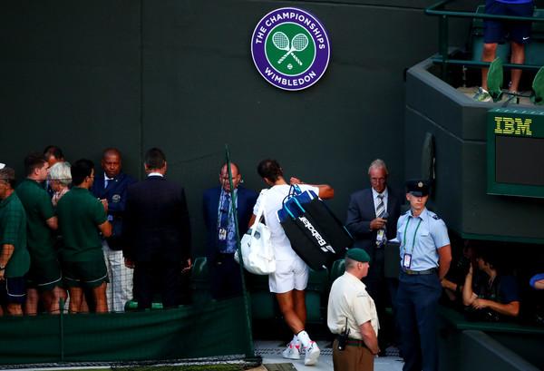 Rafael Nadal leaving Wimbledon