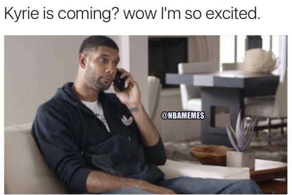 Tim Duncan is excited about Kyrie
