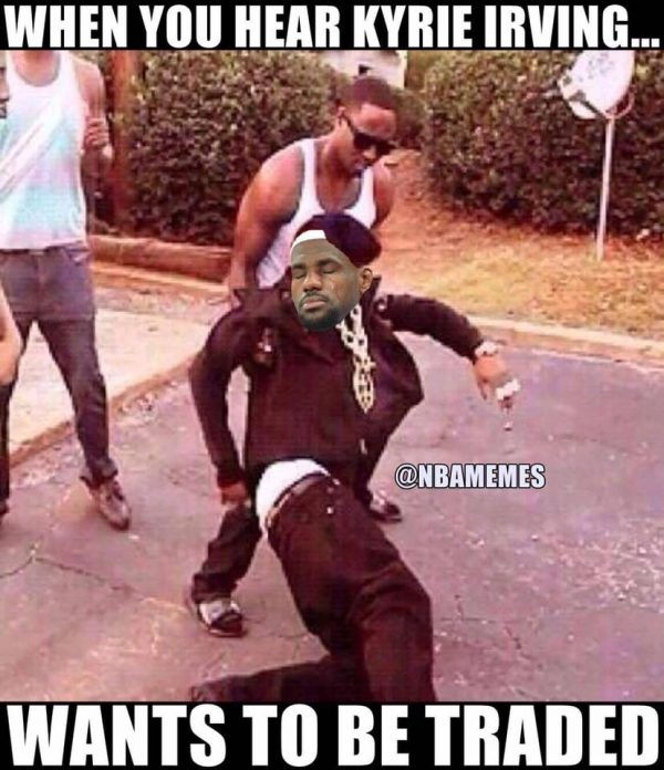 When LeBron heard Kyrie wants to be traded