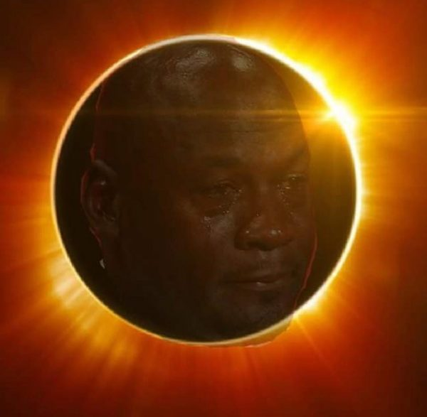 Crying Jordan Solar Eclipse