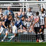Dele Alli scoring vs Newcastle