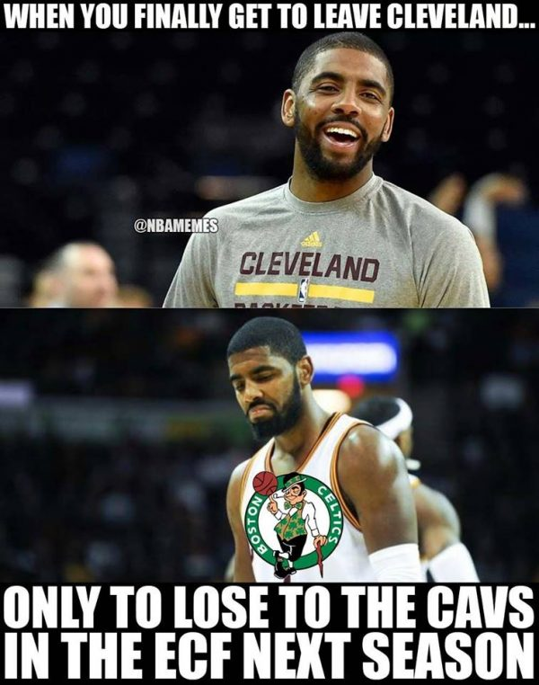 Kyrie going to lose to the Cavs