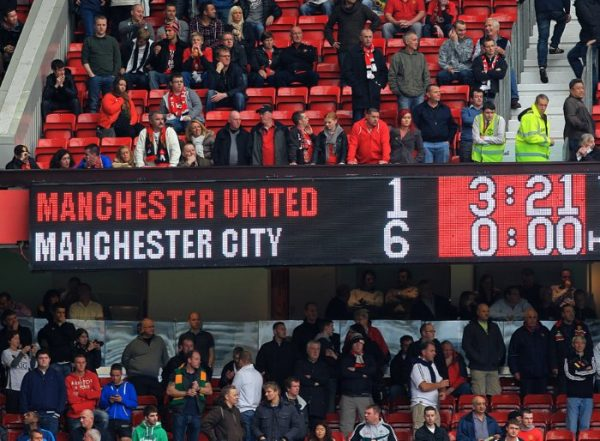 Manchester United Manchester City 1-6