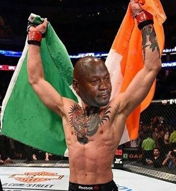 McGregor Crying Jordan Irish Flag