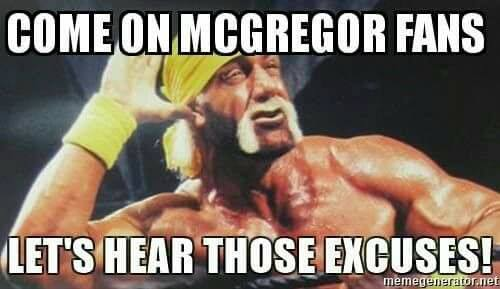 McGregor Fans excuses