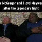 McGregor and Mayweather after the fight