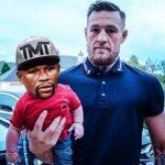 McGregor holding baby Mayweather