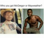 The real McGregor vs Mayweather