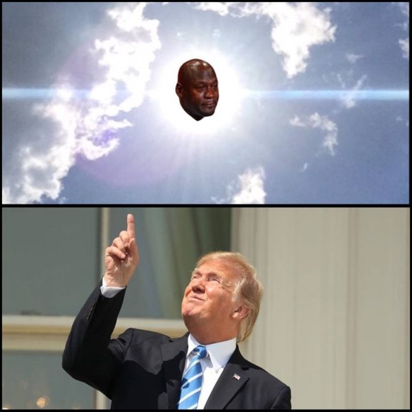 Trump Sun Crying Jordan
