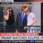 Trump Watching Eclipse Crying Jordan