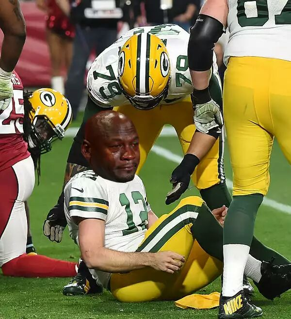 Aaron Rodgers Sacked Crying Jordan