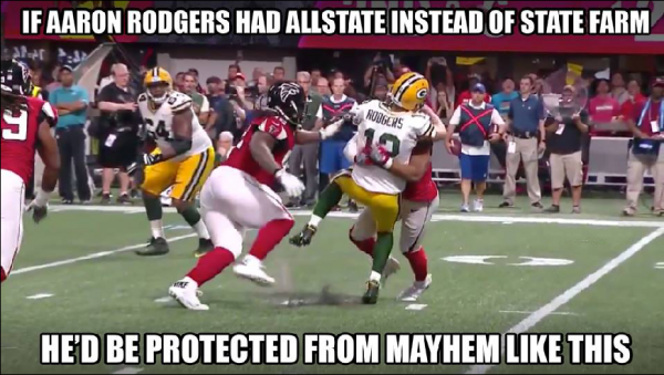 Aaron Rodgers Unprotected
