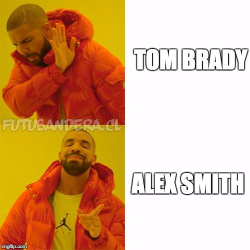Alex Smith, Tom Brady
