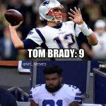 Brady more rushing yards that Elliott