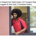 Colin Kaepernick McDonald's Stats