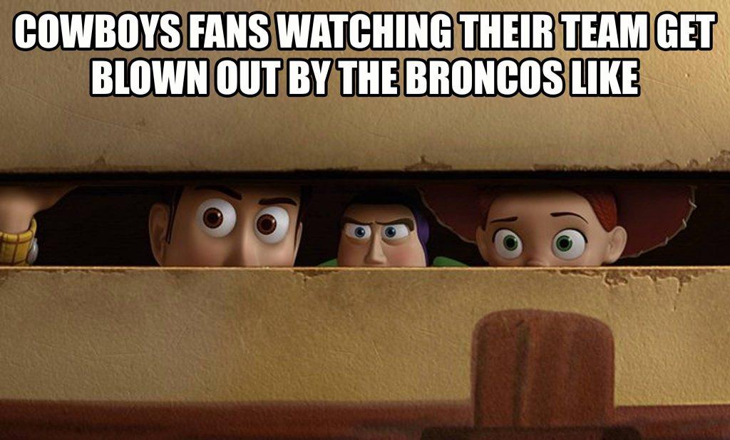 Cowboy fans watching a blowout