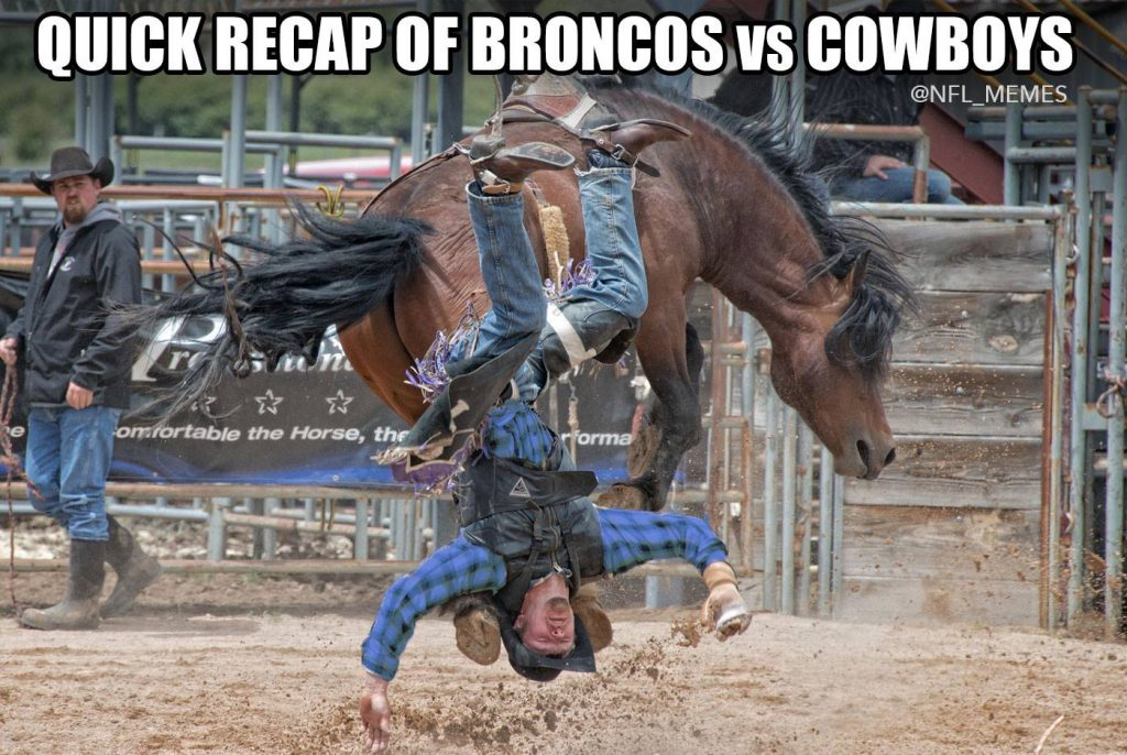 Cowboys vs Bronco