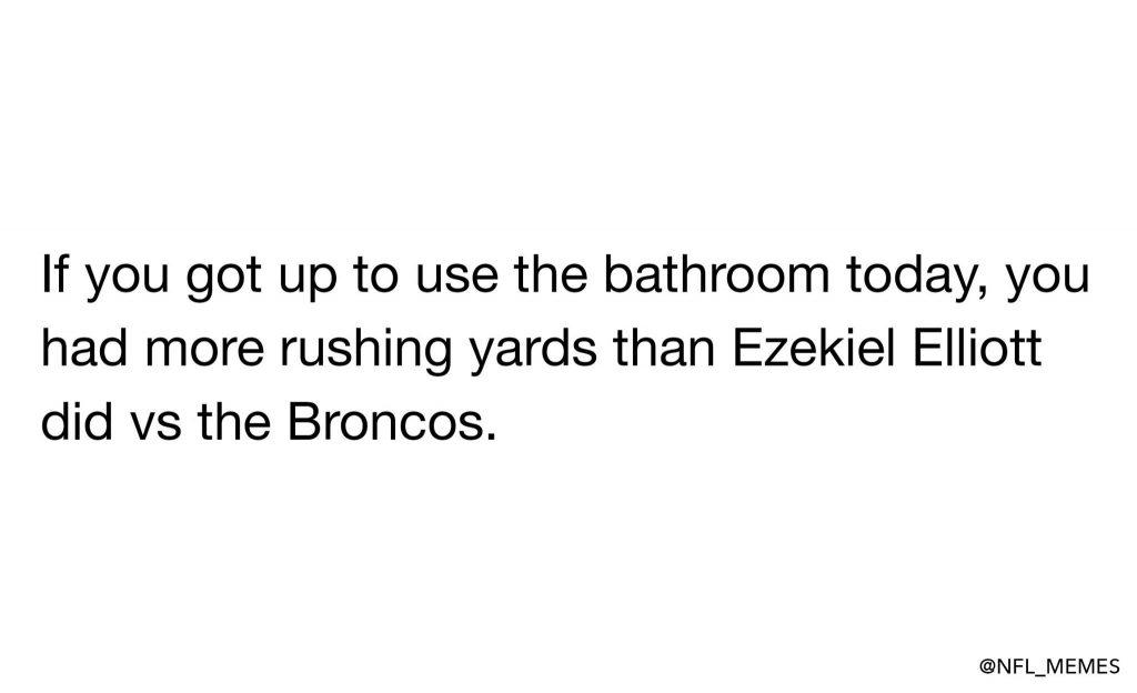 Ezekiel Elliott couldn't run