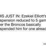 Ezekiel Elliott suspension reduced meme