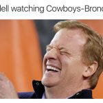 Goodell laughing at Cowboys