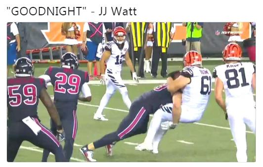 JJ Watt Goodnight