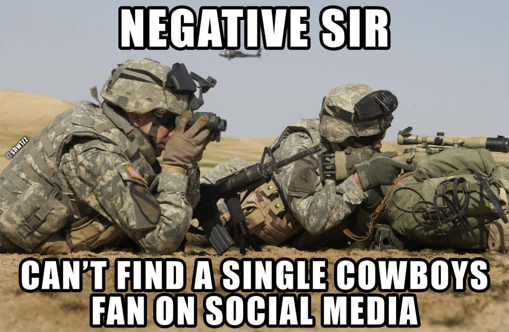 No Cowboys on Social Media