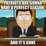 Not a perfect season