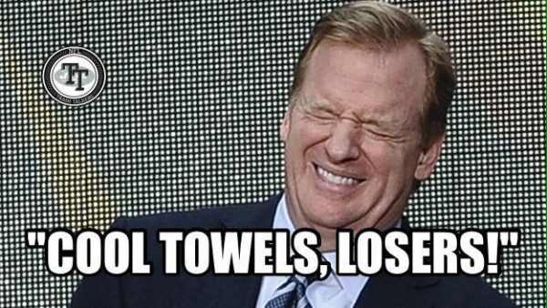 Roger Goodell is happy