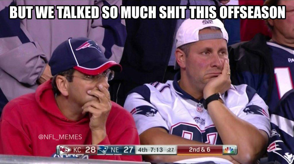 Sad Patriots Fans