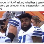 Zero yards