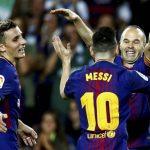 Barcelona Iniesta Messi