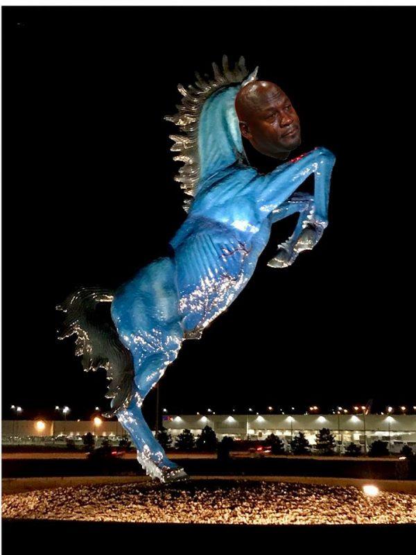 Broncos Statue Crying Jordan