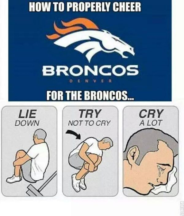 Broncos fans crying