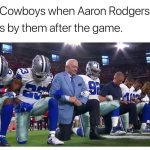 Cowboys kneel to King Rodgers