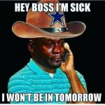 Crying Jordan Cowboys Fan